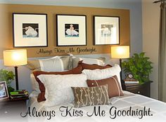 Always Kiss Me Goodnight Wall Decal Vinyl Wall Quote by LaLeni, $14.00