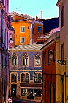 Colourful buildings of Lisbon - Portugal Lisboa Places Around The World, Travel Around The World, The Places Youll Go, Places To See, Around The Worlds, Portugal Travel, Spain And Portugal, Algarve, Wonders Of The World