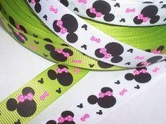 Borte * Band * Ripsband mit Minnie Mouse Ohren * 1,6 cm * Farbe wählbar | eBay