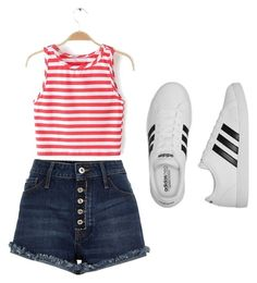 A fashion look from July 2016 featuring cropped shirts, blue shorts and adidas sneakers. Browse and shop related looks. Adidas Fashion, Crop Shirt, Blue Shorts, River Island, Adidas Sneakers, Fashion Looks, Fashion Outfits, Clothing, Polyvore