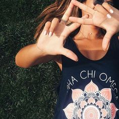 Alpha Chi Omega Mandala Tank by Adam Block Design | Custom Greek Apparel & Sorority Clothes | www.adamblockdesign.com