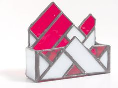 Custom Stained Glass Business Card Holder by SMFGlass on Etsy, $30.00