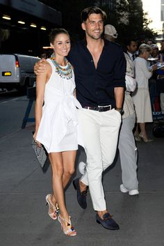 Olivia Palermo and Johannes Huebl attending a screening of Red 2 at MOMA in New York City - July 16, 2013 - Photo: Runway Manhattan