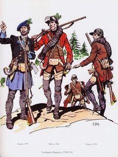 British; Gorham's Rangers, 1759-61