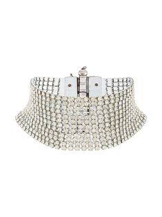 Gianfranco Ferré Pre-Owned Embellished Choker Necklace - Farfetch Layered Choker Necklace, Layered Chokers, Silver Necklaces, Cute Jewelry, Jewelry Accessories, Fashion Accessories, Fashion Jewelry, Pop Clothing, Piercings