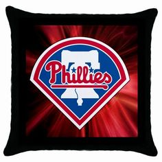 Philadelphia Phillies MLB Team Logo [Throw Pillow Case]