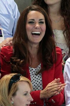 LONDON, ENGLAND - AUGUST 03:  Catherine, Duchess of Cambridge watches the swimming finals session on Day 7 of the London 2012 Olympic Games at the Aquatics Centre on August 3, 2012 in London, England.