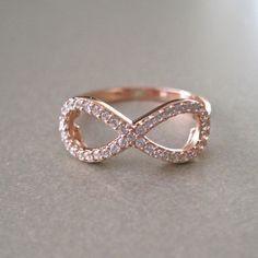 rose gold infinity ring from Tangerine Jewelry Rose Gold Infinity Ring, Infinity Jewelry, Infinity Ring Wedding, Wedding Rings, Infinity Rings, Wedding Stuff, Jewelry Shop, Jewelry Accessories, Fancy Schmancy