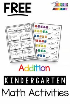 KINDERGARTEN MATH freebies and resources to teach all five common core domains - numbers and counting - 1:1 correspondence - teen numbers - place value - addition and subtraction - shapes and geometry - measurement and graphing - how to measure plus more FREE lessons - matches almost all state standards as well #kindergartenmath #kindergarten #kindergartenworksheets #spellingandhandwriting #spelling #and #handwriting Kindergarten Math Activities, Kindergarten Lesson Plans, Learning Activities, Free Teaching Resources, Preschool Learning, Spelling And Handwriting, Math Courses, Math Assessment, Printable Calendar Template