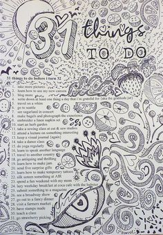 Things to do before... Visual Journal by Emily Levenson, via Flickr