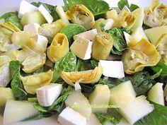 Ensalada de espinacas y alcachofas