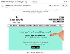 Here'S what effective abandoned-shopping-cart emails look like makeup life hacks, beauty Engagement Emails, Beauty Routine 30s, Beauty Hacks Skincare, Beauty Tricks, Beauty Ideas, Beauty Products, Makeup Life Hacks, Coconut Oil Beauty, Kate Spade