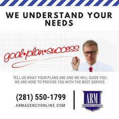 We can get you covered within hours, not days. Insurance Agency, Dump Trucks, Understanding Yourself, Customer Service, Houston, Arm, Success, How To Plan, Cover