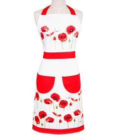Another great find on #zulily! Red Poppies Apron #zulilyfinds