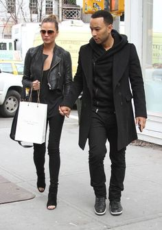Chrissy Teigen and john legend, what a fashionable couple. up there with david and victoria beckham