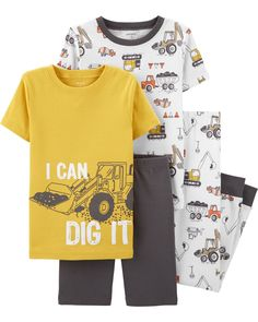 Custom Boy /& Girl Toddler Pajamas School Bus A Cotton Baby Sleepwear Pajama Set
