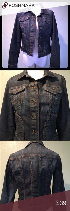 😻💋 Host Pick!!! 💋😻 --- Ann Taylor Jean Jacket Excellent condition dark blue denim Ann Taylor jean jacket.  Size XS. Ann Taylor Jackets & Coats Jean Jackets