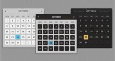 Calendars Variations Free PSD