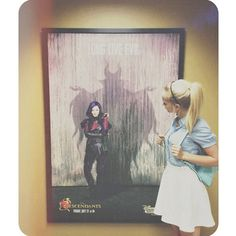 "Photo: Dove Cameron With A Disney ""Descendants"" Poster July 5, 2015 - Dis411"