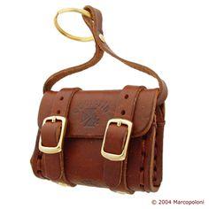 FIBBIE - Buckles Bag Italian Leather Key Chain