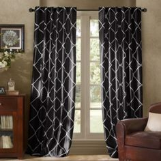 Garrison Embroidered Interlined Window Curtain Panels - BedBathandBeyond.ca