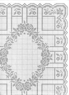 Kira scheme crochet: Scheme crochet no. Bead Crochet Patterns, Crochet Motif, Crochet Designs, Crochet Doilies, Crochet Curtains, Crochet Tablecloth, Filet Crochet Charts, Fillet Crochet, Cross Stitch Flowers
