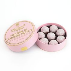 Charbonnel et Walker Marc de Champagne Pink Chocolate Truffles featuring polyvore, home, kitchen & dining, food, filler, food and drink, chocolate, items and charbonnel et walker
