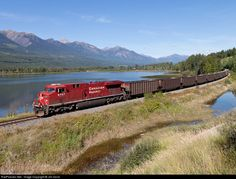 Net Photo: CP 8747 Canadian Pacific Railway GE at Golden, British Columbia, Canada by Jim Dorst Freight Transport, Canadian Pacific Railway, Abandoned Train, Train Pictures, Steam Locomotive, British Columbia, Planes, Trains, Diesel