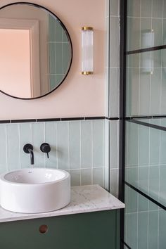 Dreaming of an extra or designer master bathroom? We've gathered together plenty of gorgeous bathroom a few ideas for small or large budgets, including baths, showers, sinks and basins, plus master bathroom decor ideas. Green Modern Bathrooms, Modern Bathroom Decor, Bathroom Layout, Bathroom Interior Design, Beautiful Bathrooms, Modern Decor, Bathroom Ideas, Bathroom Organization, Minimal Bathroom