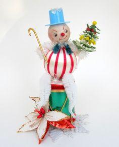 Spun Cotton Snowman Christmas Decoration