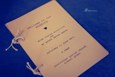 Wedding order of service - Picture by Mirrorbox Photography