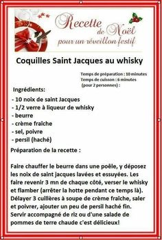 COQUILLES ST JACQUES AU WHISKY