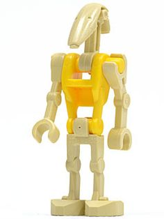 LEGO Star Wars Battle Droid Pilot Minifig with Blue Torso and Tan Insignia