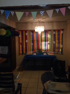 Noah's ark party (I like the streamers!)