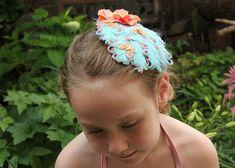 Butterfly breeze feather fascinator butterfly hair by Hairfetti