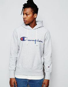 Image 1 - Champion - Sweat à capuche avec logo manuscrit