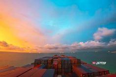 Ce time-lapse résume 30 jours en mer sur un cargo