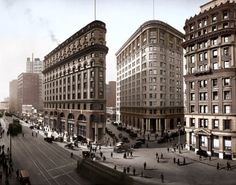 Market and Post Streets. March 31, 1920--I worked in the building on the right on the third floor in the 50's!!!!