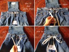 DIY Denim Backpack from Jeans