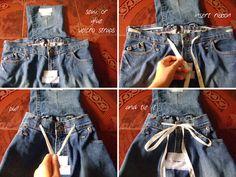 DIY Denim Backpack from Jeans