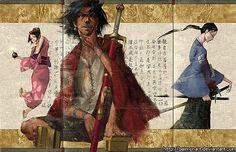 ARTIST: Sam Kim aka Baimon (Korea/Canada) | via: #Yellowmenace | The samurai creations of 40 brilliant artists  + http://yellowmenace8.blogspot.com/2015/05/art-samurai-inspired.html
