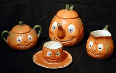 JOL Halloween child's tea set, Germany or Japan