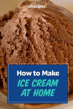 "How to Make Ice Cream at Home | ""Once you learn the basics, you can turn out your own small-batch artisanal frozen desserts (you could totally call it that) in any flavor imaginable. Get ready, here's how to make ice cream at home."" #dessertrecipes #dessertideas #frozendesserts #icebox #iceboxdessert #nobakedessert Icebox Desserts, Ice Cream Desserts, Frozen Desserts, Ice Cream Recipes, Frozen Treats, No Bake Desserts, Dessert Recipes, Ice Cream At Home, Make Ice Cream"