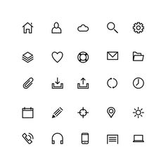 ..., here's a handcrafted set of 25 line icons that you can freely use for your mobile and web projects. The icons are fully scalable, and come in 60 x 60 pixels PSD and transparent PNG formats.
