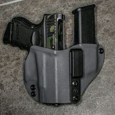IWB Appendix holster with built in mag caddy. Check out Last Line Of Defence on YouTube for more info on ordering this custom holster