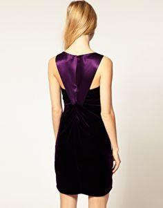 Karen Millen Draped Velvet Mini Dress  €217.20 NOW €86.88