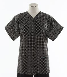 Scrub Med Womens Print Baseball Top in Infinity. Coordinates with Black.