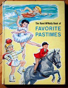 Dorothy Grider Illustrated Favorite Pastimes Rand McNally 1963 via Etsy.