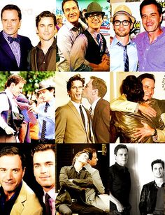 Matt Bomer & Tim DeKay. Bomer's face in the middle one kills me...