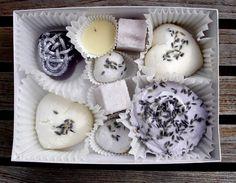 Lavender-scented bath candies